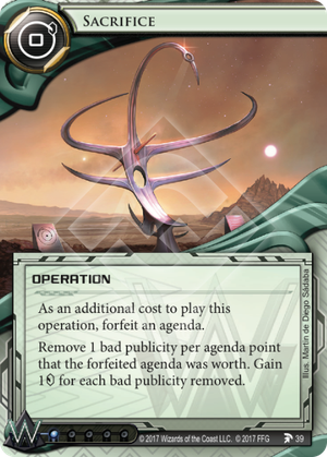 Android Netrunner Sacrifice Image