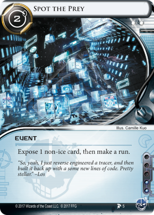 Android Netrunner Spot the Prey Image