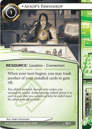 Android Netrunner Aesop's Pawnshop Image