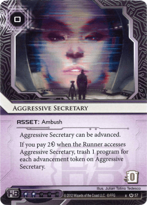 Android Netrunner Aggressive Secretary Image