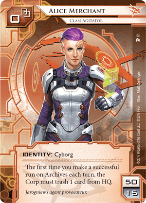 Android Netrunner Alice Merchant: Clan Agitator Image