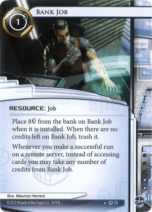 Android Netrunner Bank Job Image