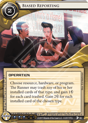 Android Netrunner Biased Reporting Image