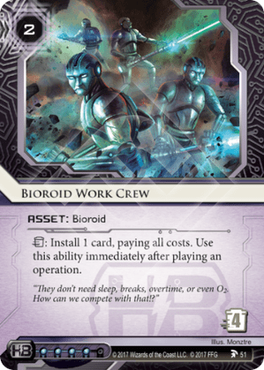 Android Netrunner Bioroid Work Crew Image