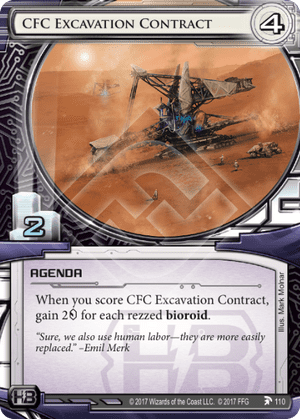 Android Netrunner CFC Excavation Contract Image