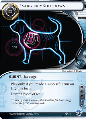 Android Netrunner Emergency Shutdown Image