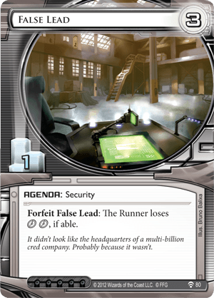Android Netrunner False Lead Image
