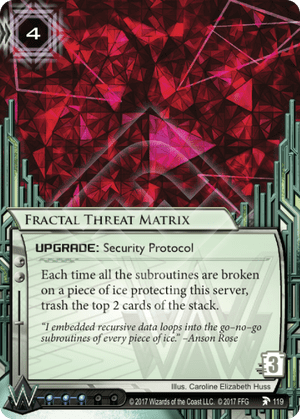 Android Netrunner Fractal Threat Matrix Image