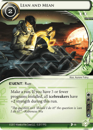 Android Netrunner Lean and Mean Image