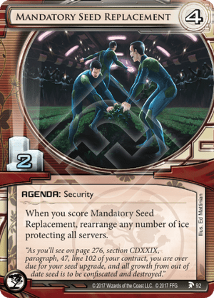 Android Netrunner Mandatory Seed Replacement Image