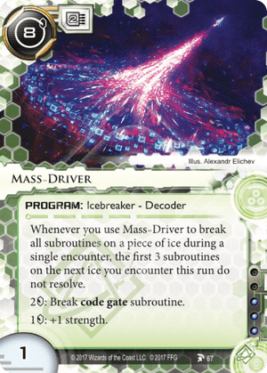 Android Netrunner Mass-Driver Image