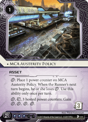 Android Netrunner MCA Austerity Policy Image