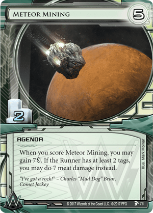 Android Netrunner Meteor Mining Image