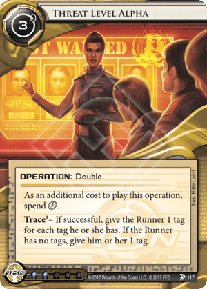 Android Netrunner Threat Level Alpha Image